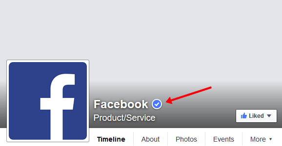 spunta blu badge facebook