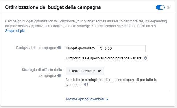 ottimizzazione budget facebook ads