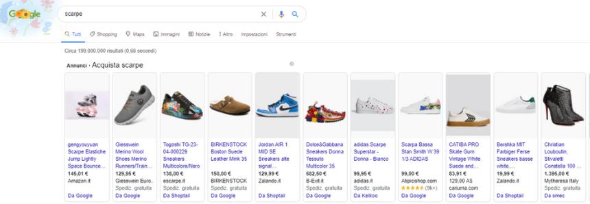 Esempi Annunci Google Shopping